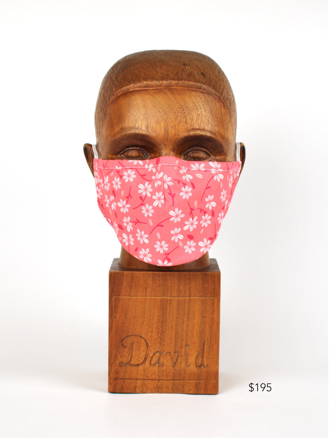 Premium Coral Floral Cloth Face Mask
