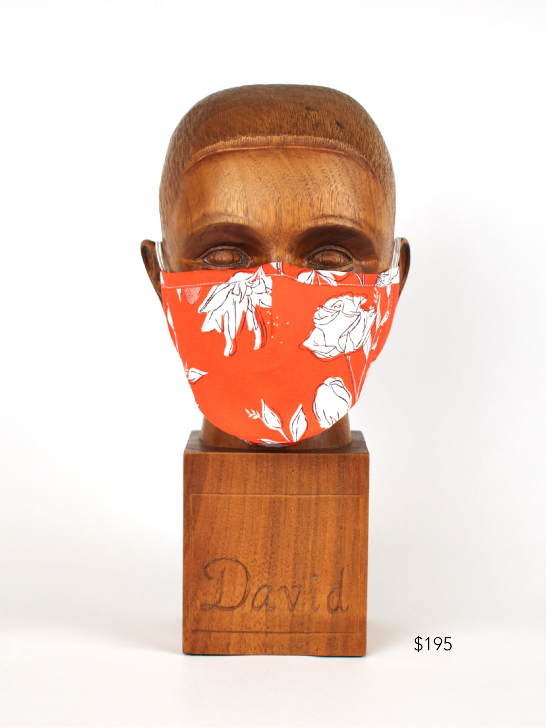 Premium Orange Floral Cloth Face Mask - FM08