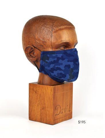 Premium Blue Shell Cloth Face Mask - FM22