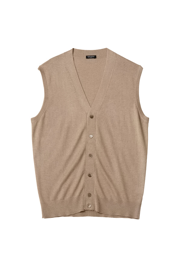 Silk Cashmere Sweater Vest - David August