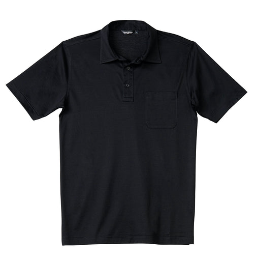 Luxury Mercerized Cotton Polo in Black