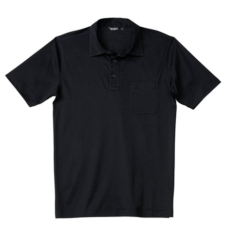 Luxury Mercerized Cotton Polo in Denim Blue