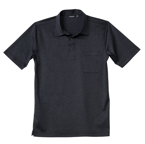 Luxury Mercerized Cotton Polo in Charcoal Grey