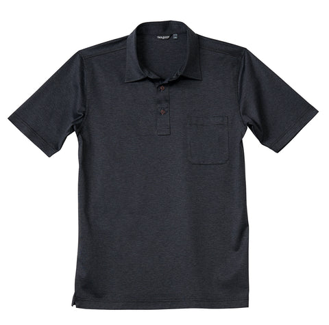 Luxury Mercerized Cotton Polo in Medium Blue