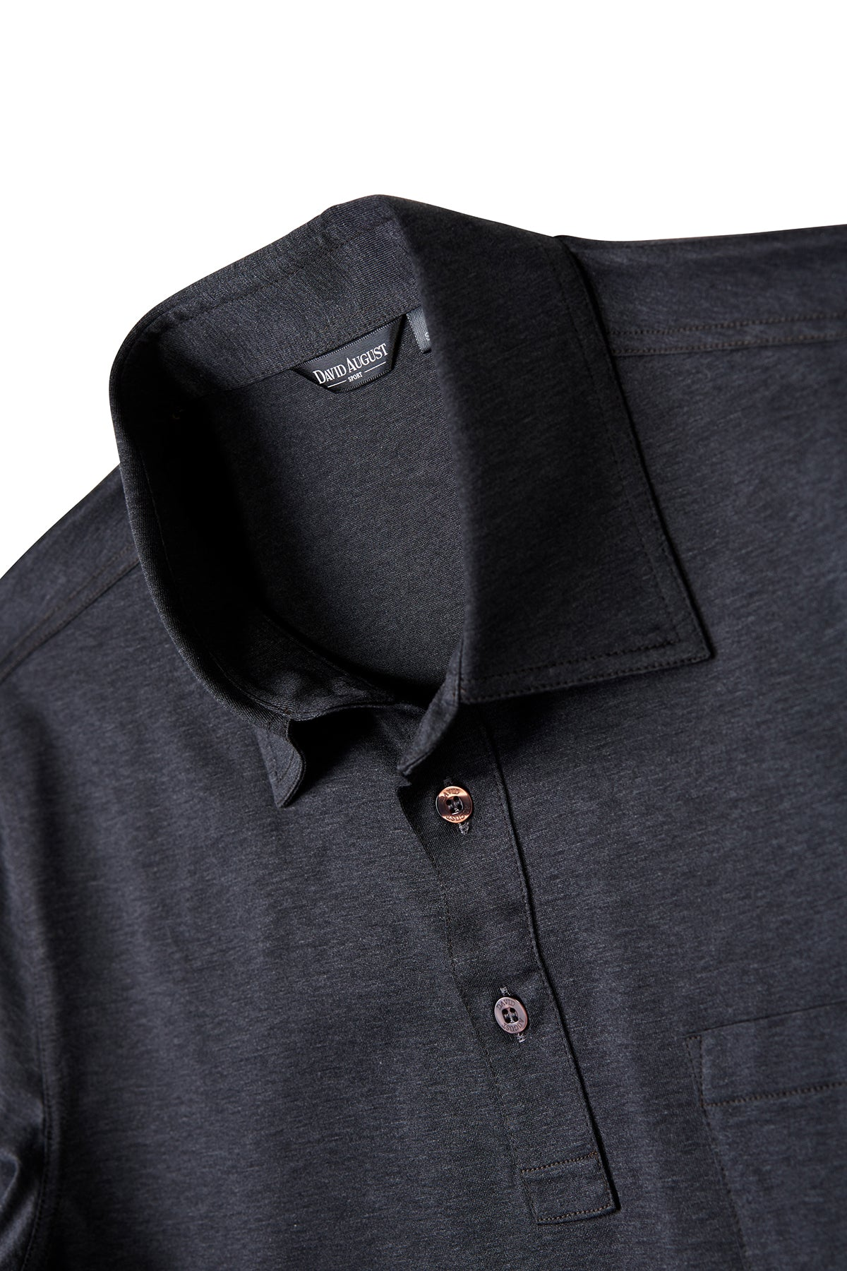 David August Charcoal Grey Polo