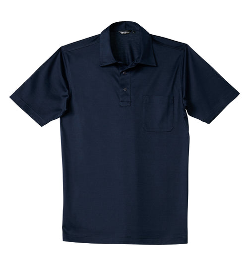 Luxury Mercerized Cotton Polo in Navy