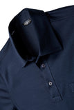 Mercerized Cotton Polo in Navy