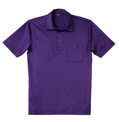 Luxury Mercerized Cotton Polo in Purple