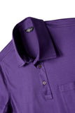 David August Mercerized Cotton Purple Polo