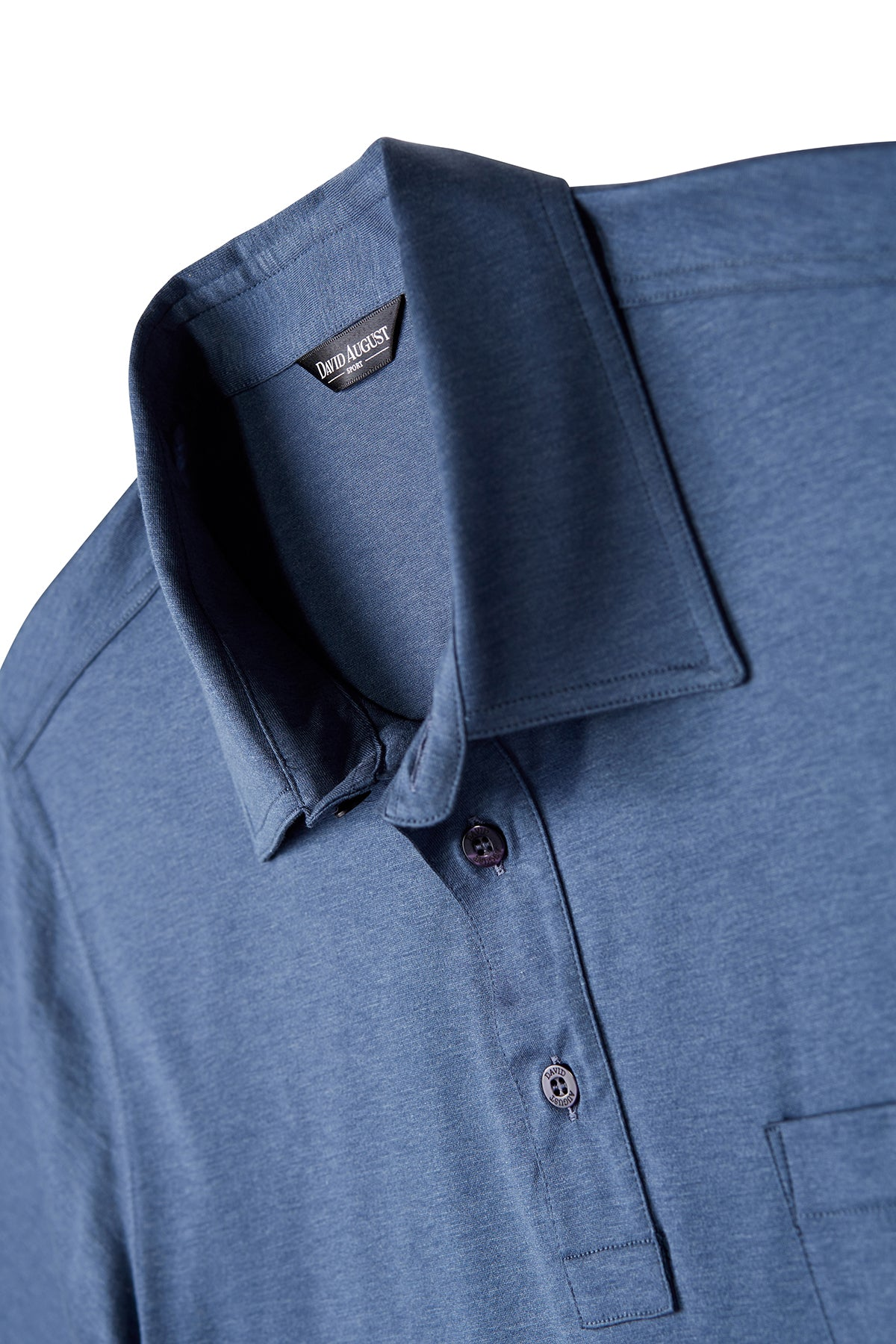 Mercerized Cotton Heather Blue Polo