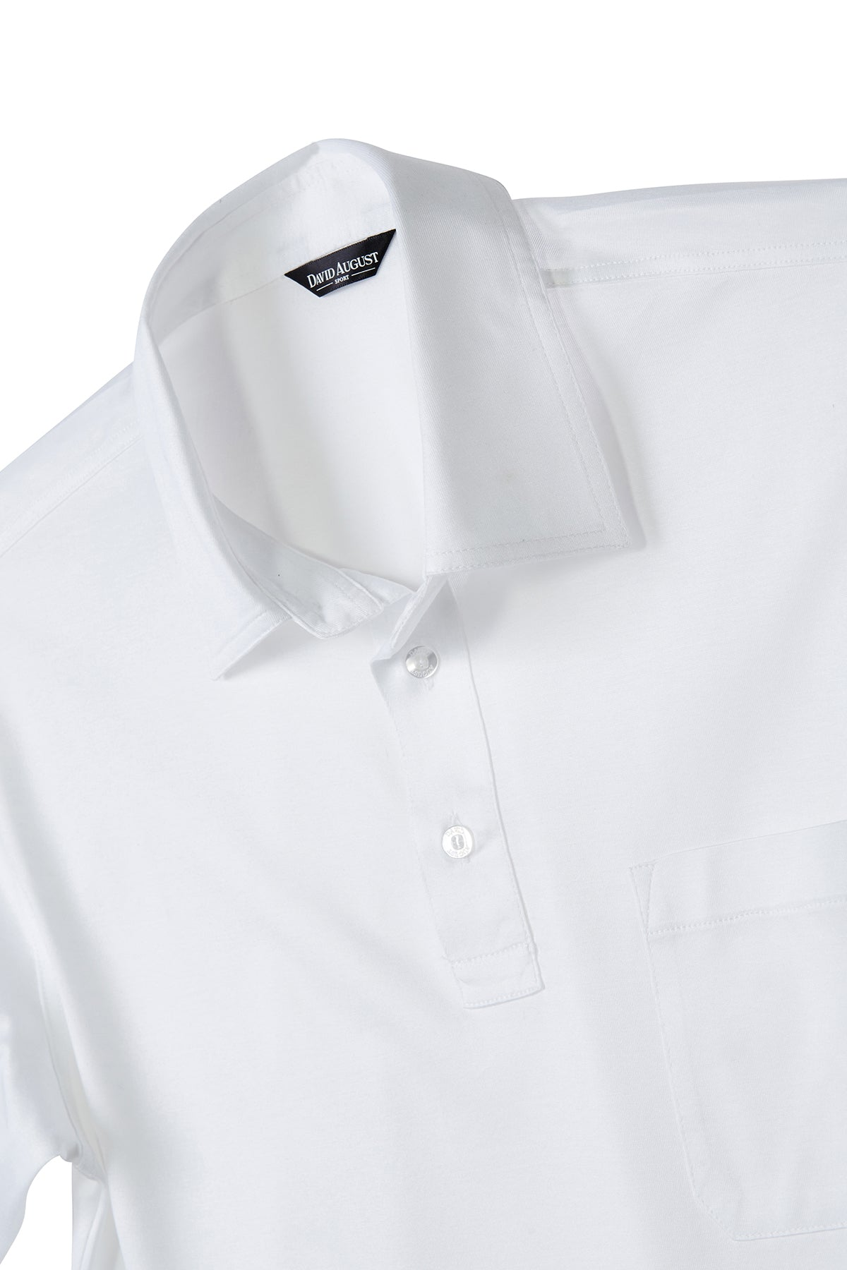 Mercerized Cotton White Polo