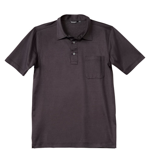 Luxury Mercerized Cotton Polo in Brown