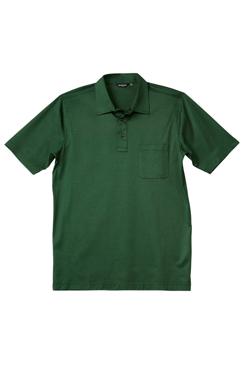 Luxury Mercerized Cotton Polo in Hunter Green