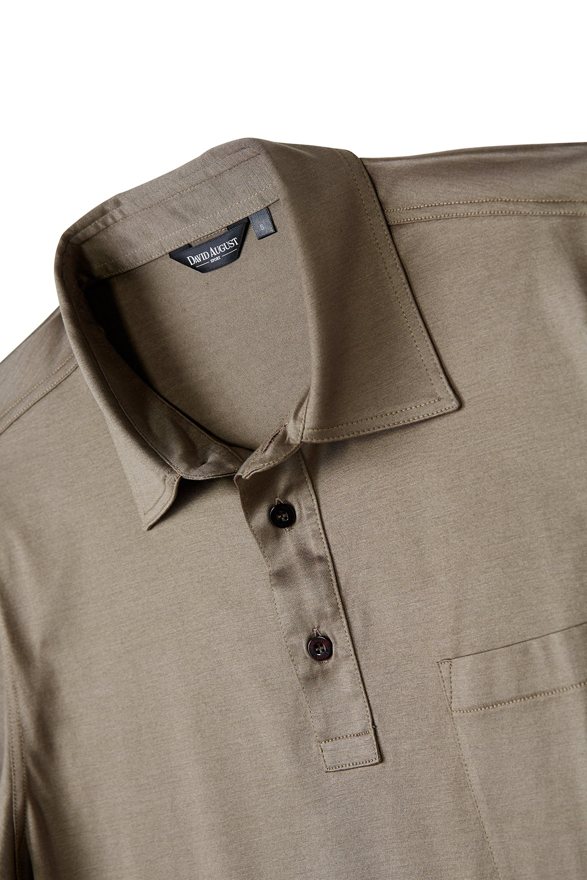 David August Mercerized Cotton Dark Tan Polo