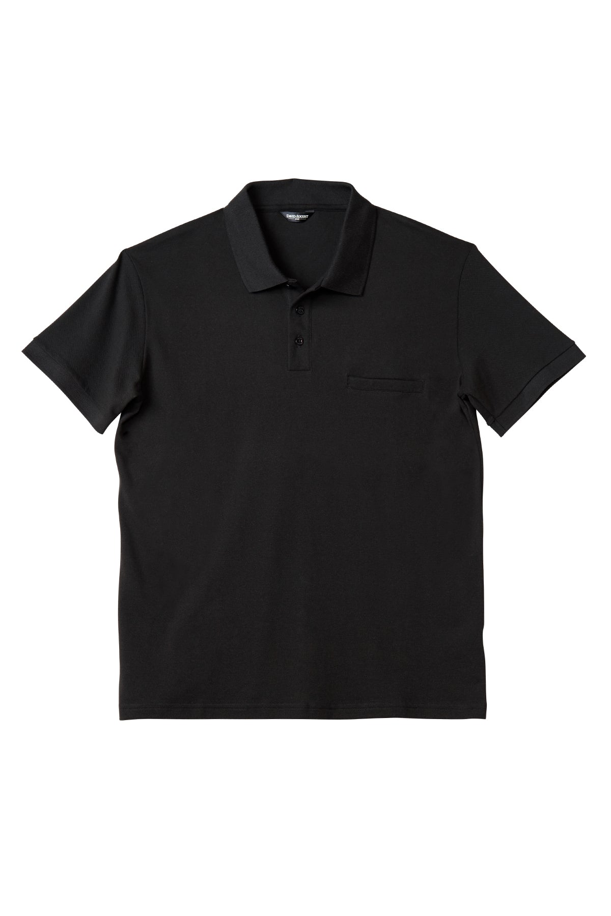 Luxury Pima Pique Cotton Polo in Black