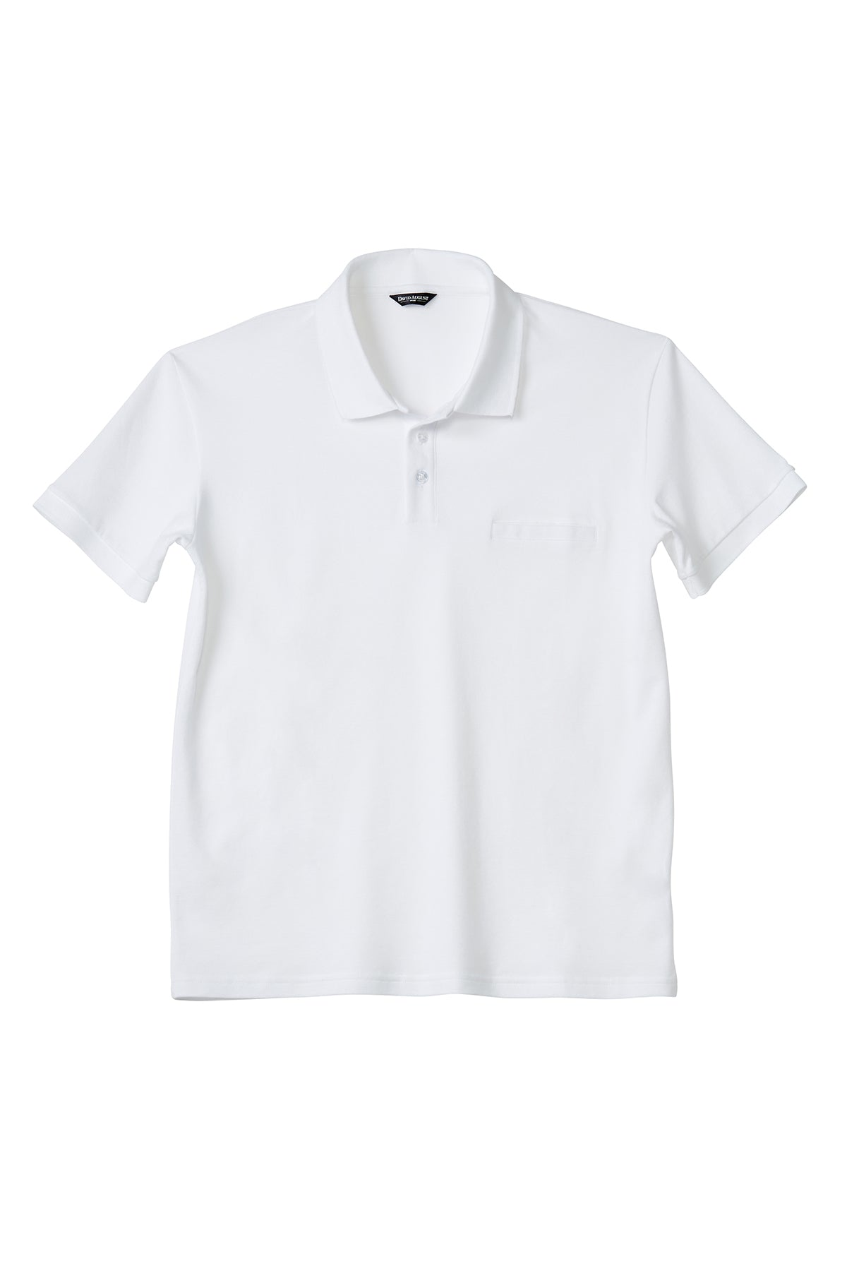 Luxury Pima Pique Cotton Polo in White