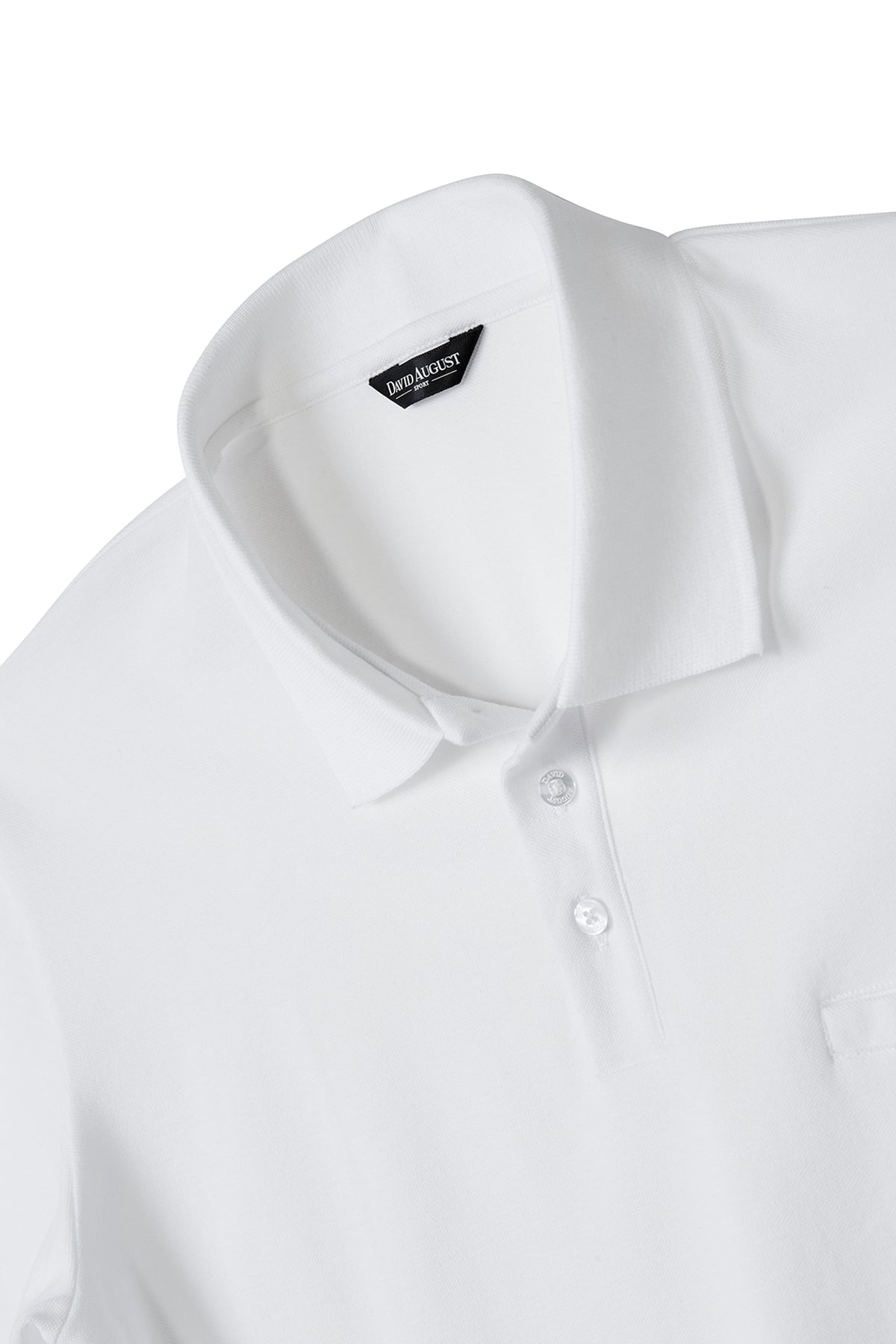 David August Pima Pique Cotton Polo in White