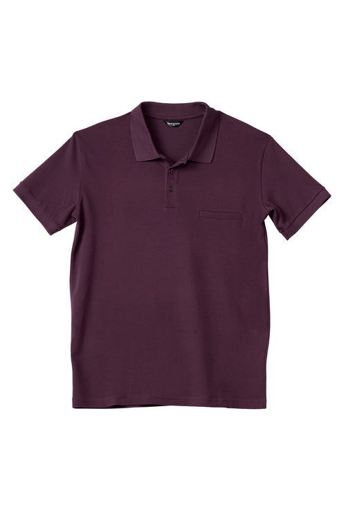 Luxury Pima Pique Cotton Polo in Dark Cranberry