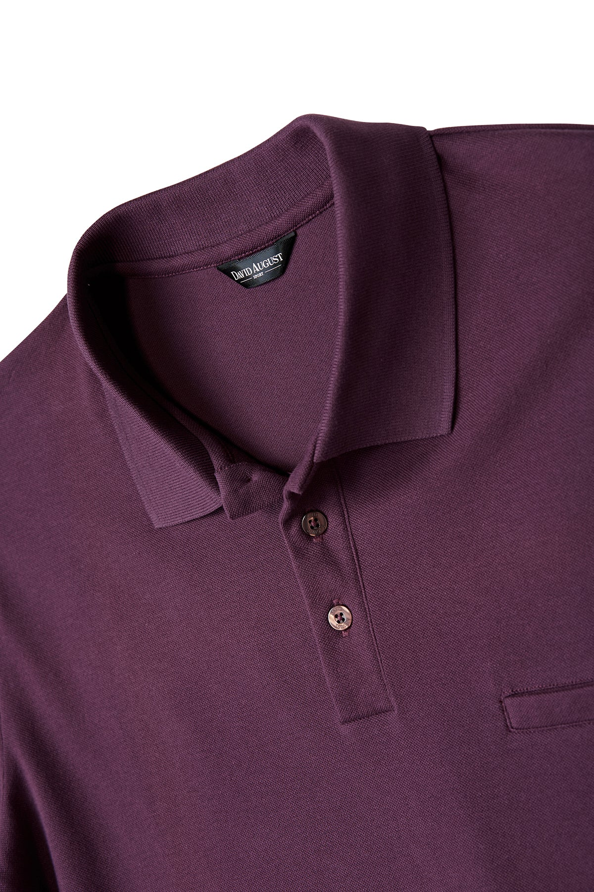 David August Pima Pique Cotton Polo in Dark Cranberry
