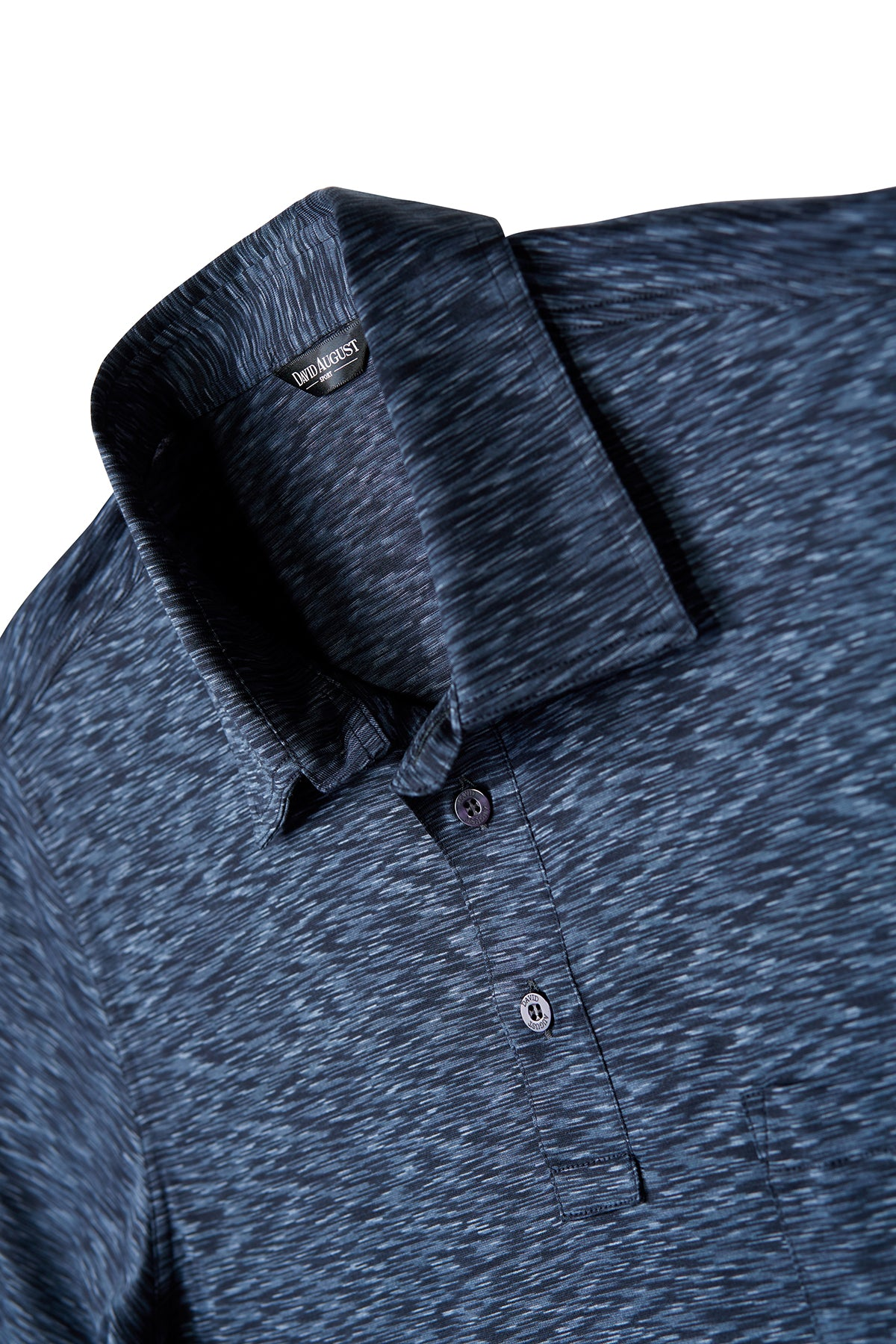 Mosaic Heather Navy Polo