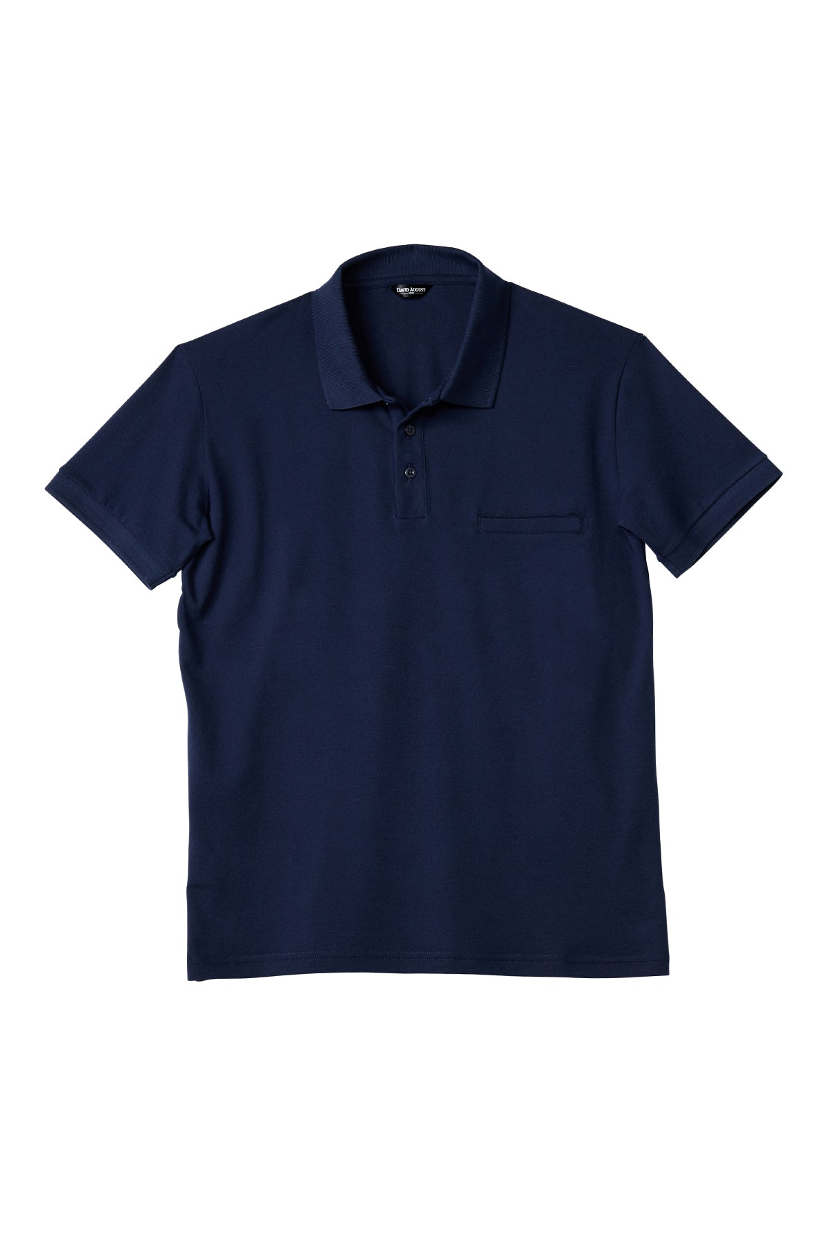 Luxury Pima Pique Cotton Polo in Navy
