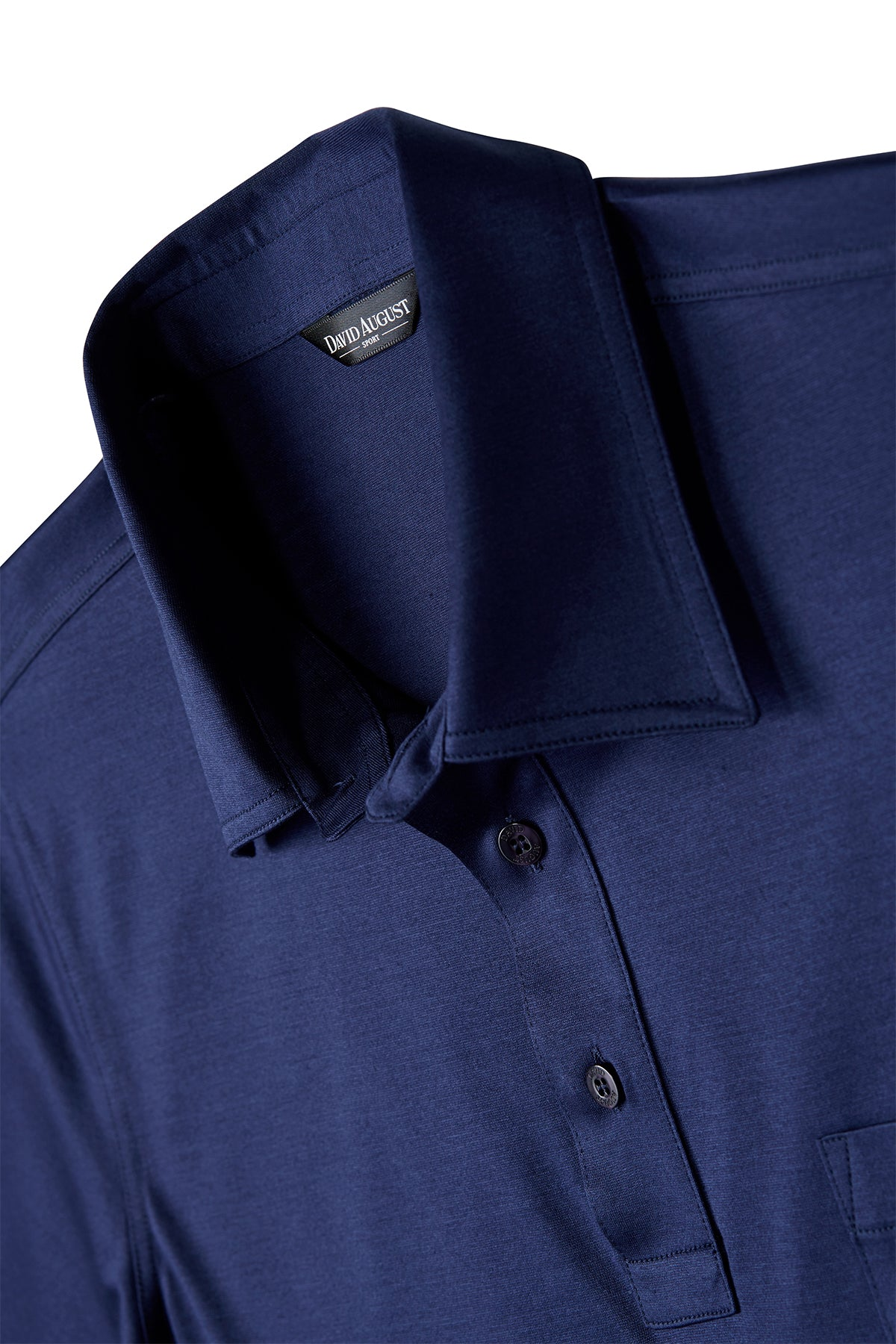 David August Mercerized Cotton Royal Navy Polo