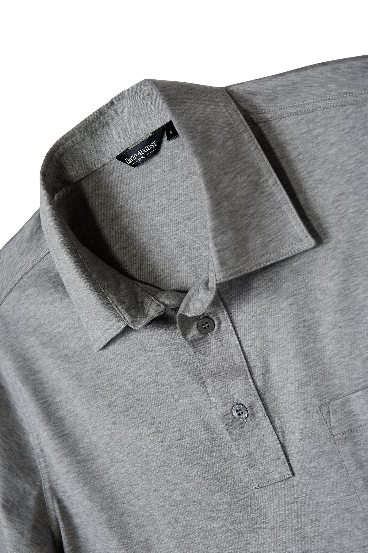 David August Heather Grey Polo