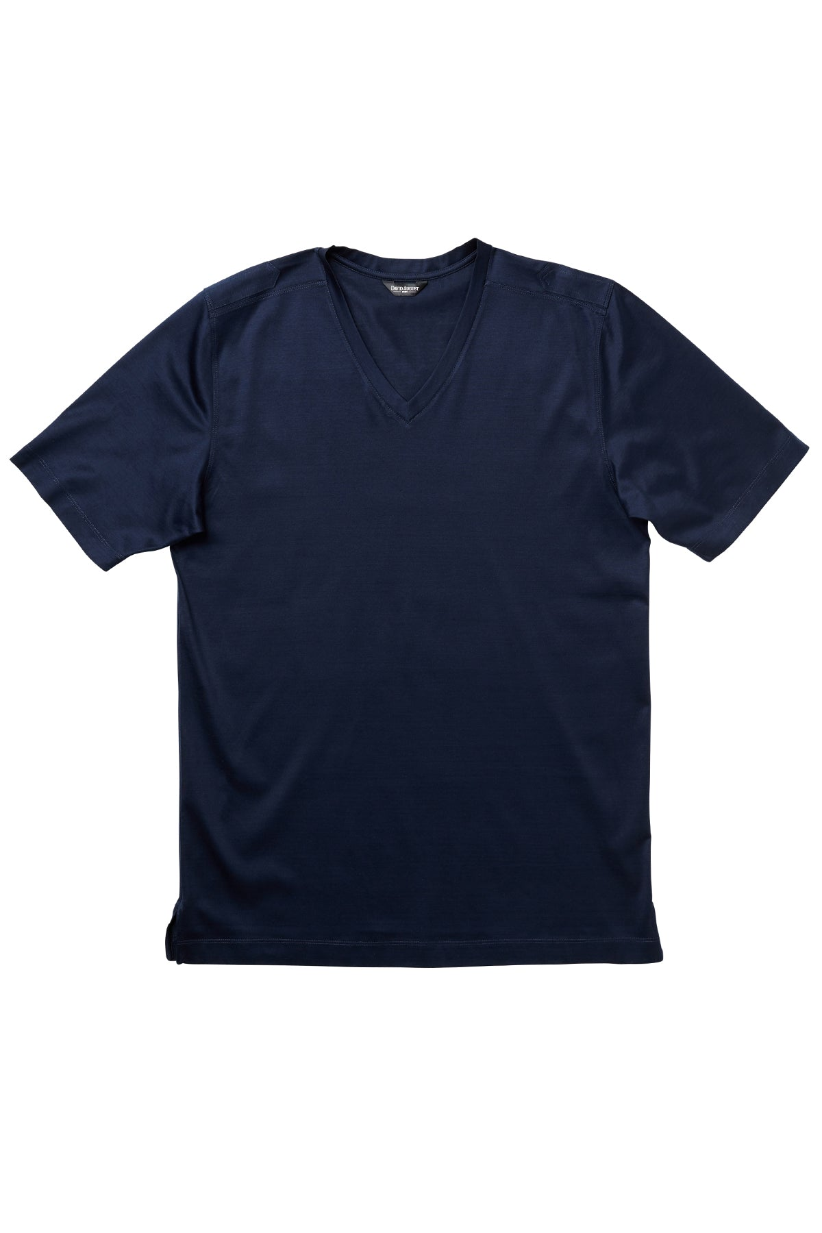 4170ddd6 David August | Luxury Mercerized Cotton V-Neck T-Shirt in Navy – David  August, Inc.