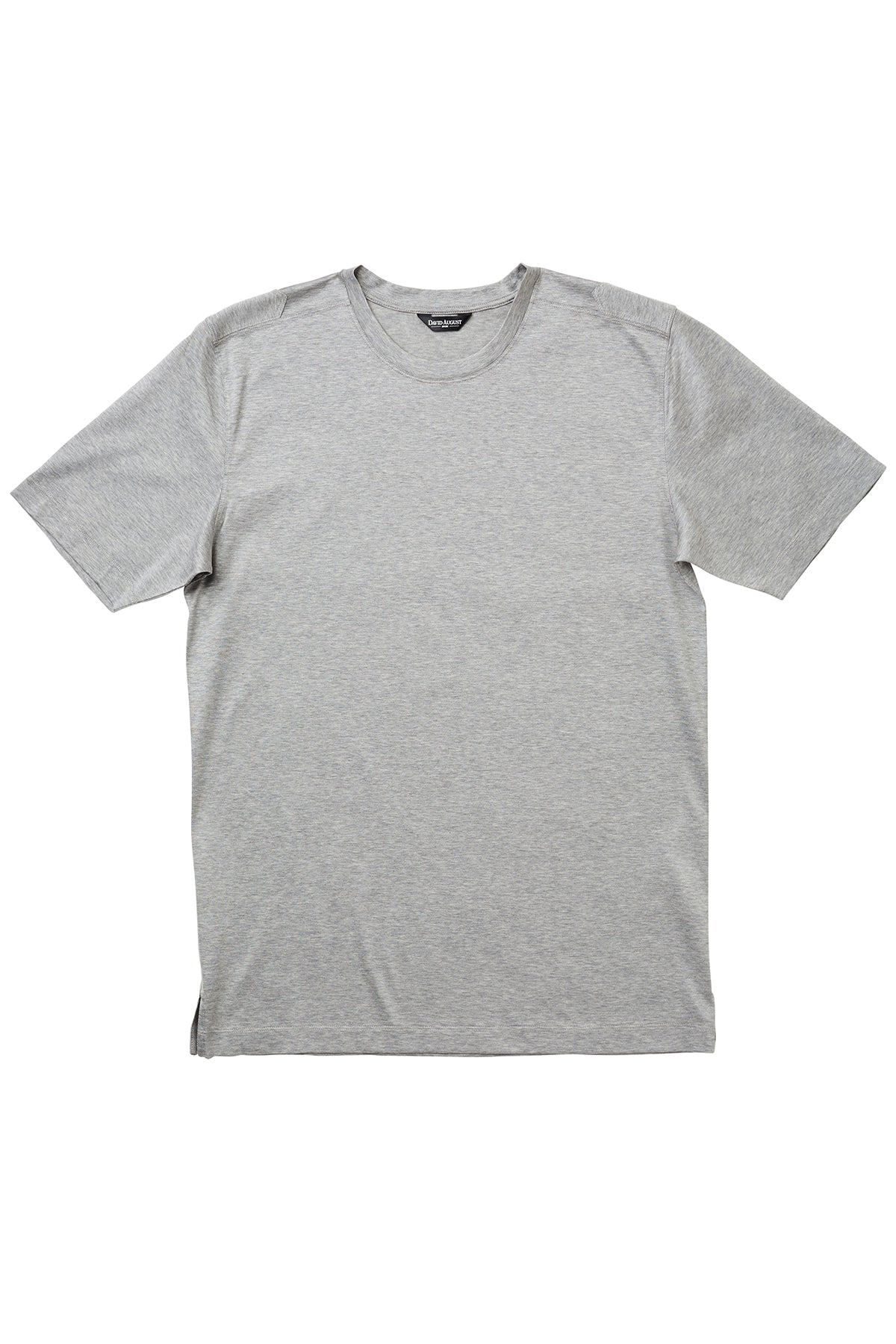 Luxury Mercerized Cotton T-Shirt Crew Neck in Light Heather Grey