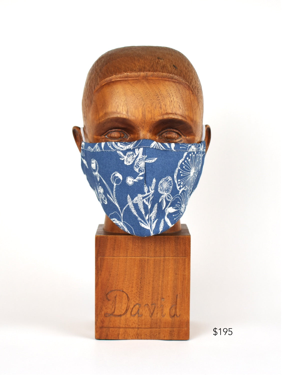 Premium Blue Poppy Cloth Face Mask