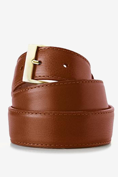British Tan Genuine Italian Calfskin Belt