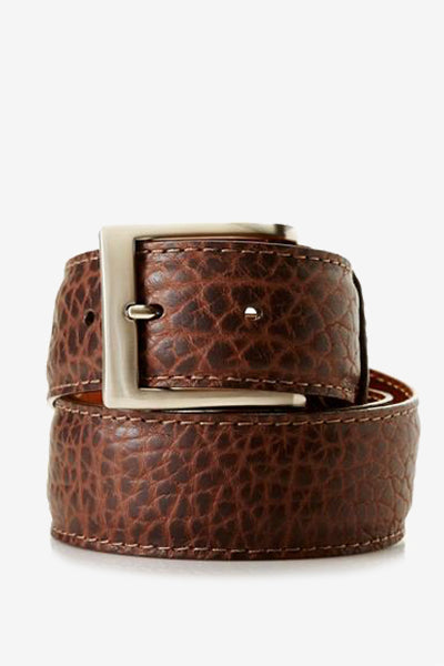 Brown American Bison Belt