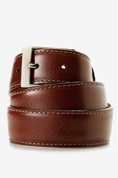 Brown Genuine Italian Calfskin Belt