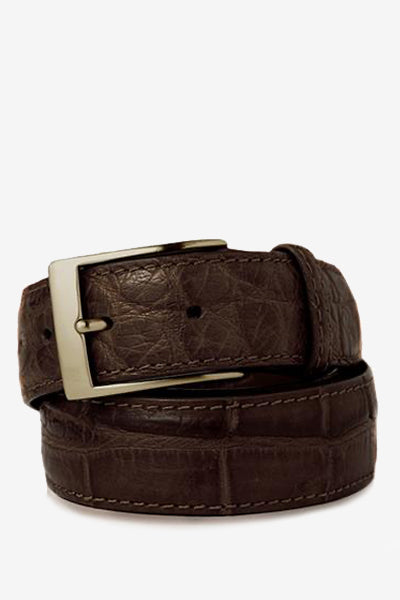 Brown Matte Alligator Belt