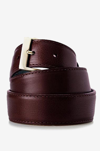 Burgundy Italian Calf Skin Belt