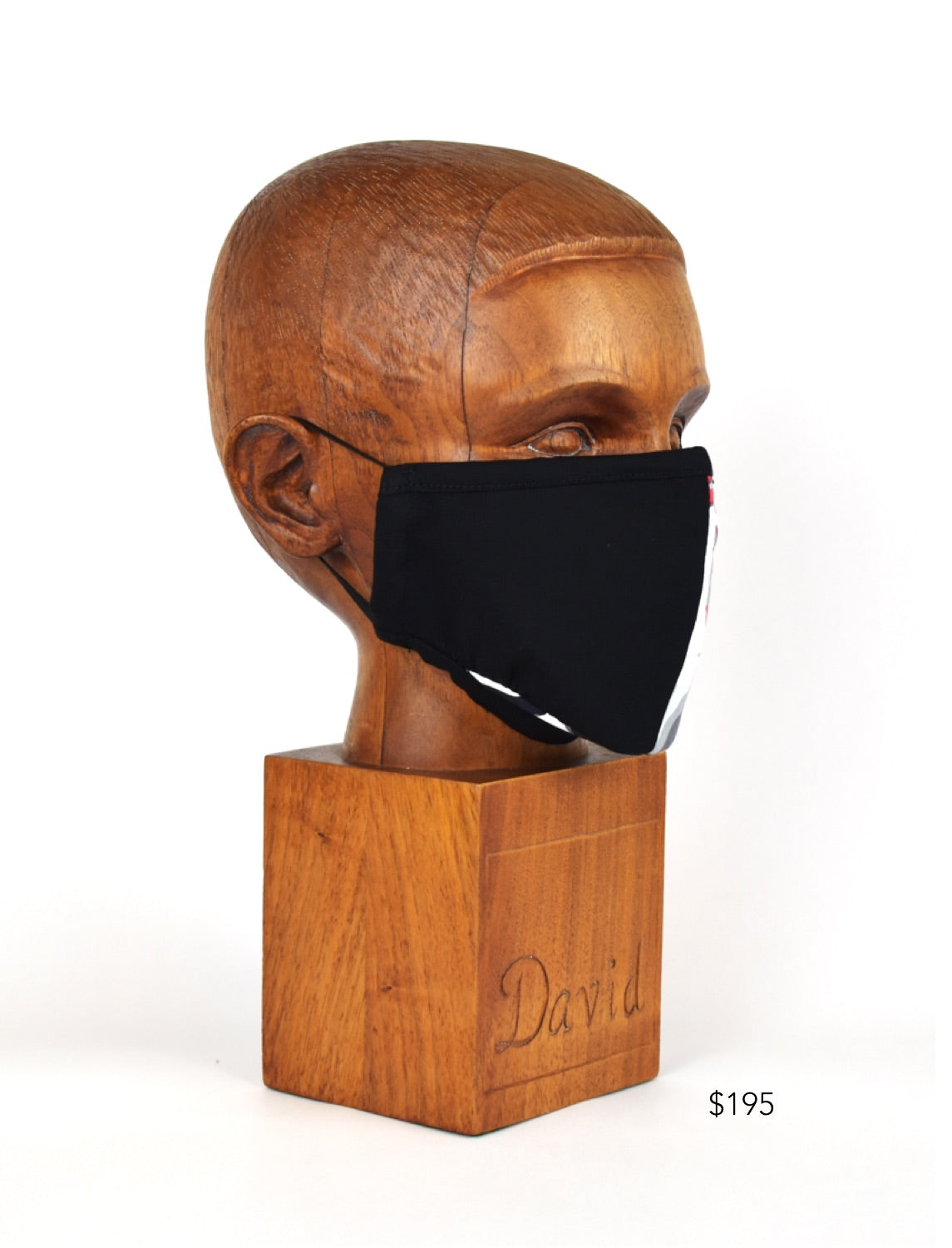 Premium Black Split Cloth Face Mask