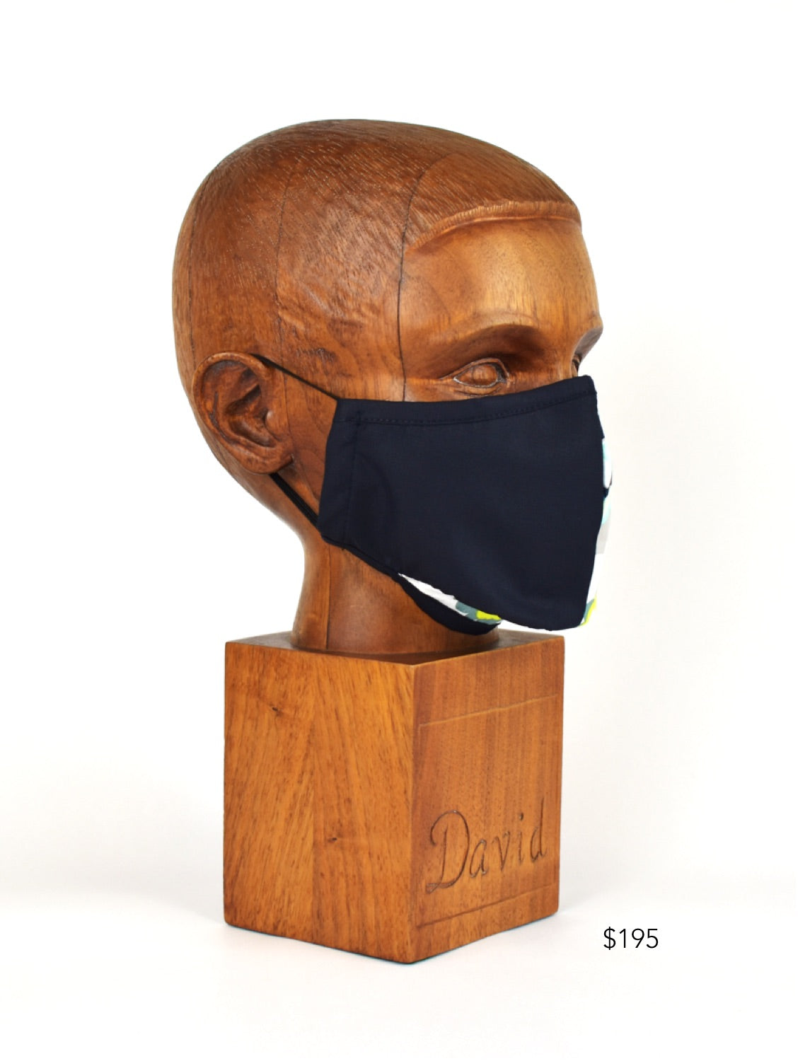Premium Navy/Floral Split Cloth Face Mask - FM05
