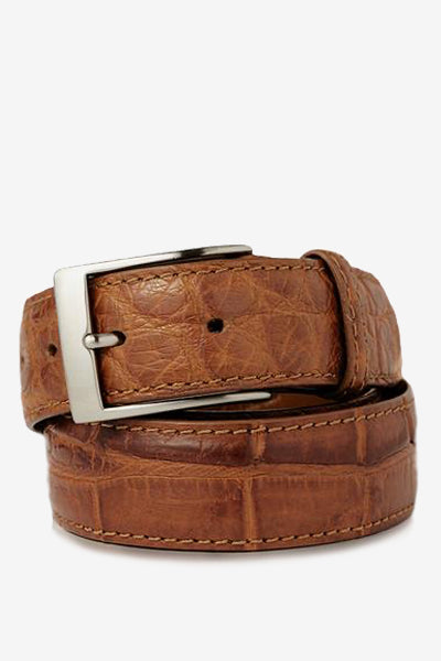 Cognac Matte Alligator Belt