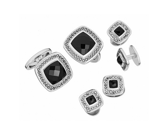 Gemstone Square with Faceted Rims Tuxedo Formal Set