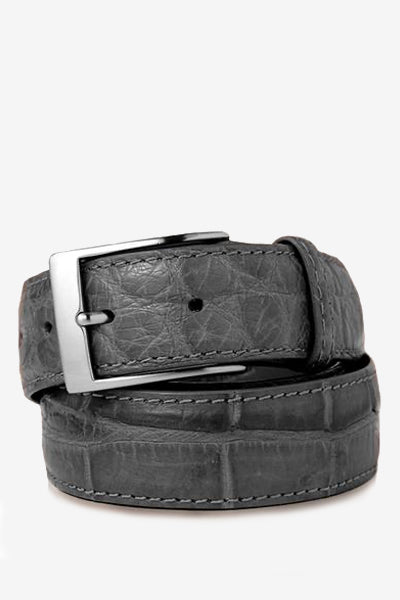 Dark Grey Matte Alligator Belt