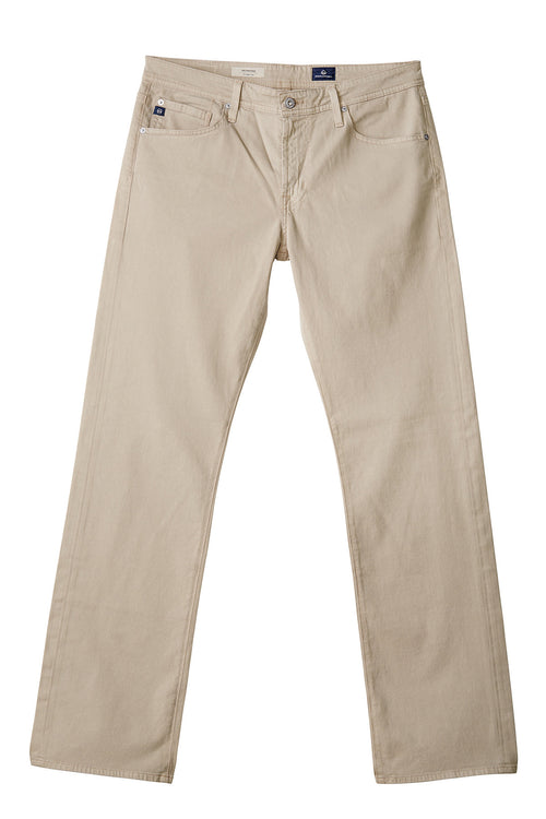 AG 'Protégé' Straight Leg Fit Pants in Sueded Sateen Corn Silk