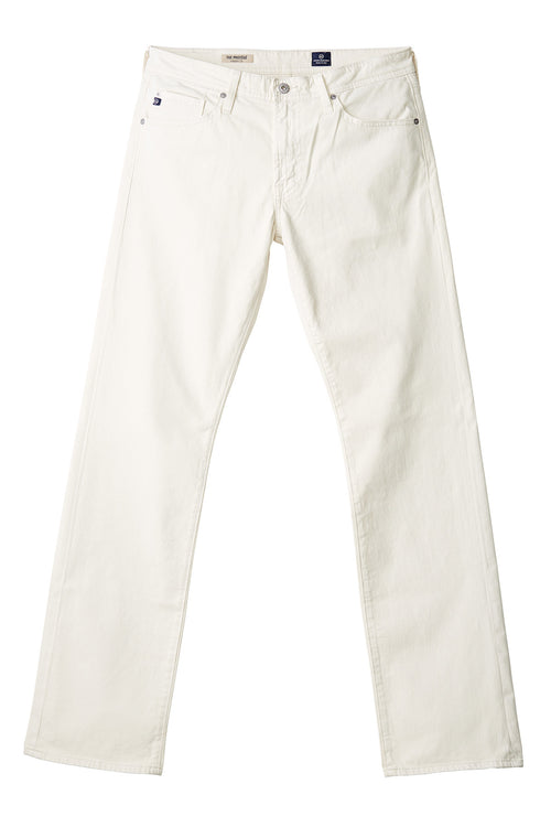 AG 'Protégé' Straight Leg Fit Pants in Sueded Sateen Bone
