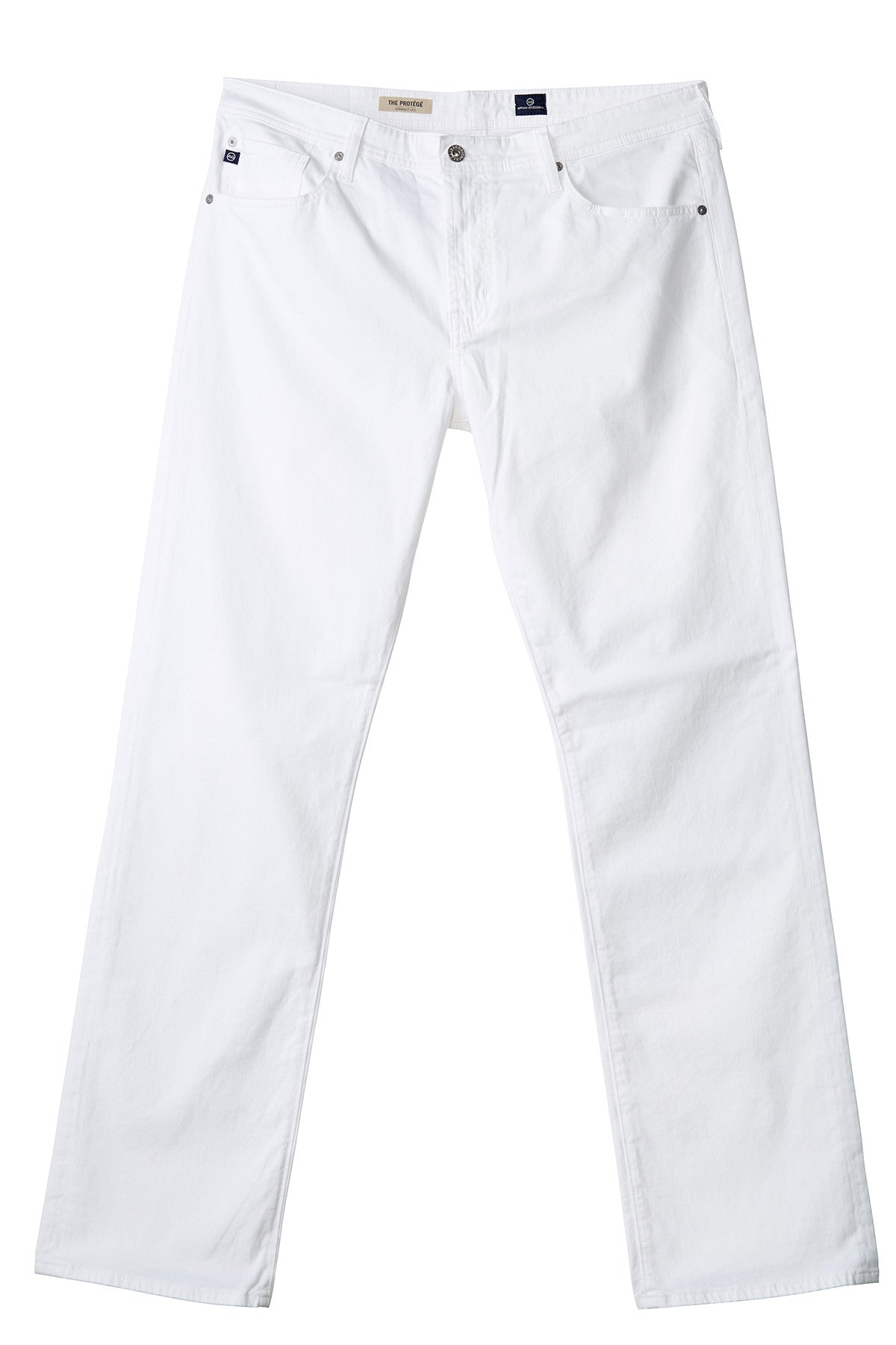 AG 'Matchbox' Slim Fit Twill Pants in Brushed White