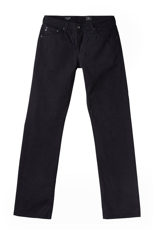 AG 'Protégé' Straight Leg Sueded Sateen Pants in Black
