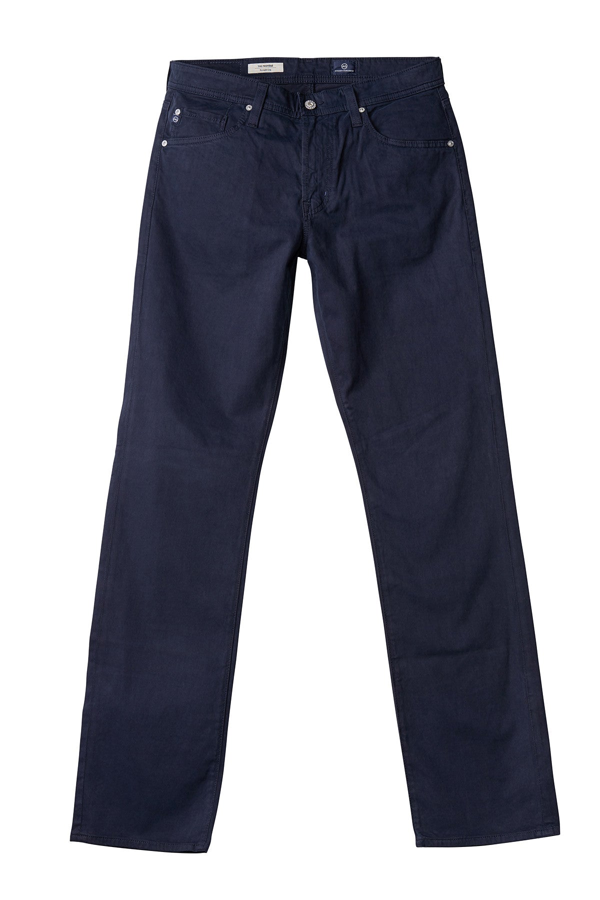 AG 'Protégé' Straight Leg Fit Pants in Sueded Sateen Navy