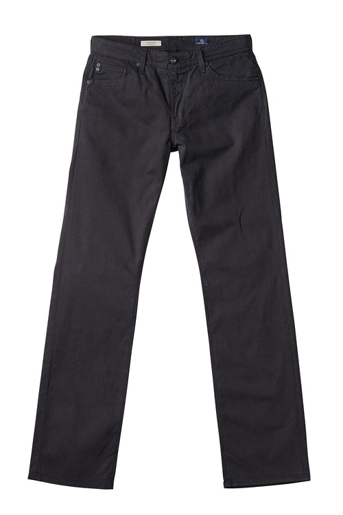 AG 'Protégé' Straight Leg Fit Pants in Sueded Sateen Dark Grey