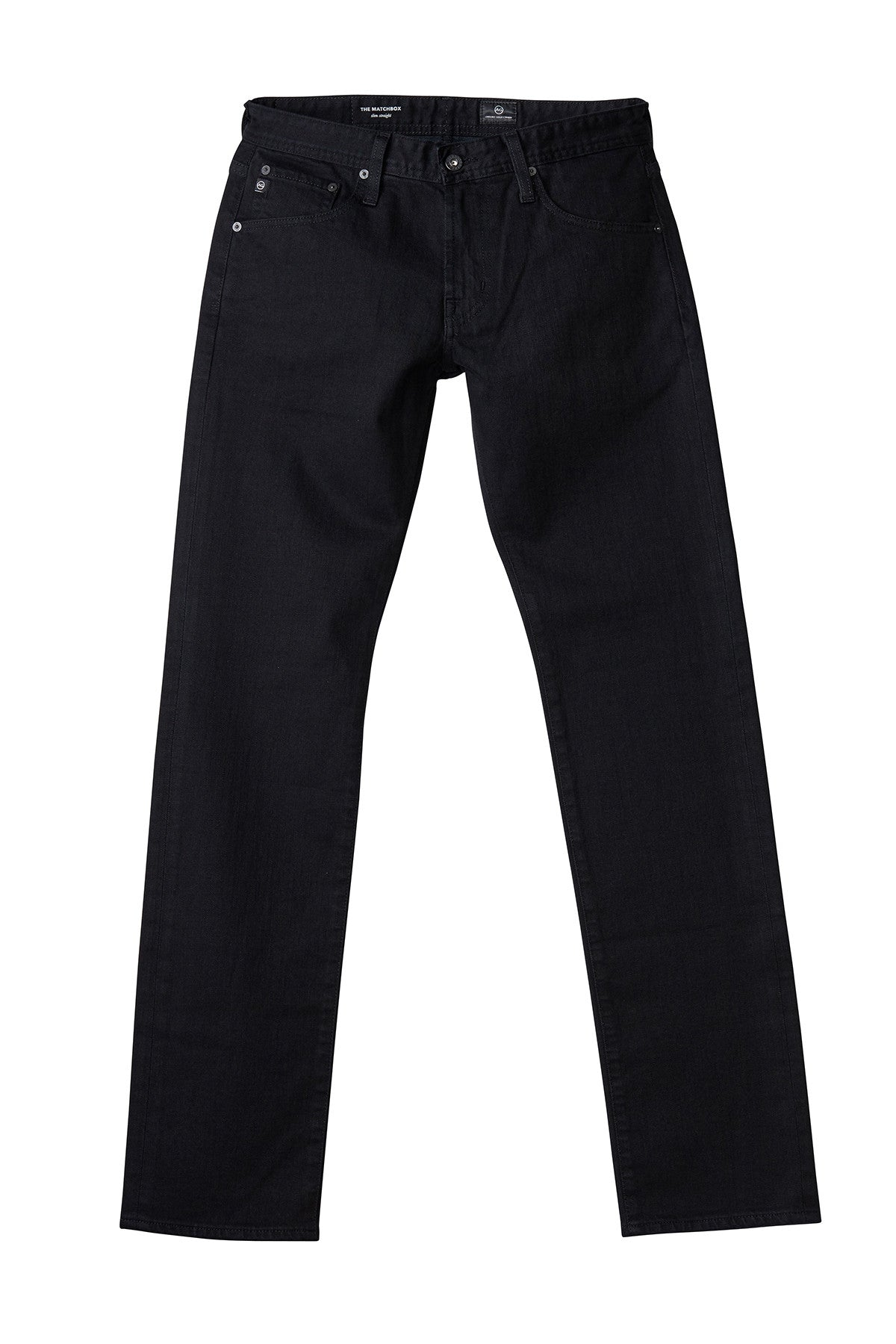 AG 'Matchbox' Slim Fit Black Jeans (Blackbird)