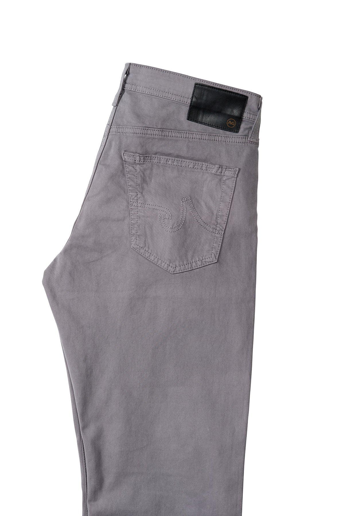 AG 'Protégé' Straight Leg Fit Pants in Sueded Sateen Sulfur Shale