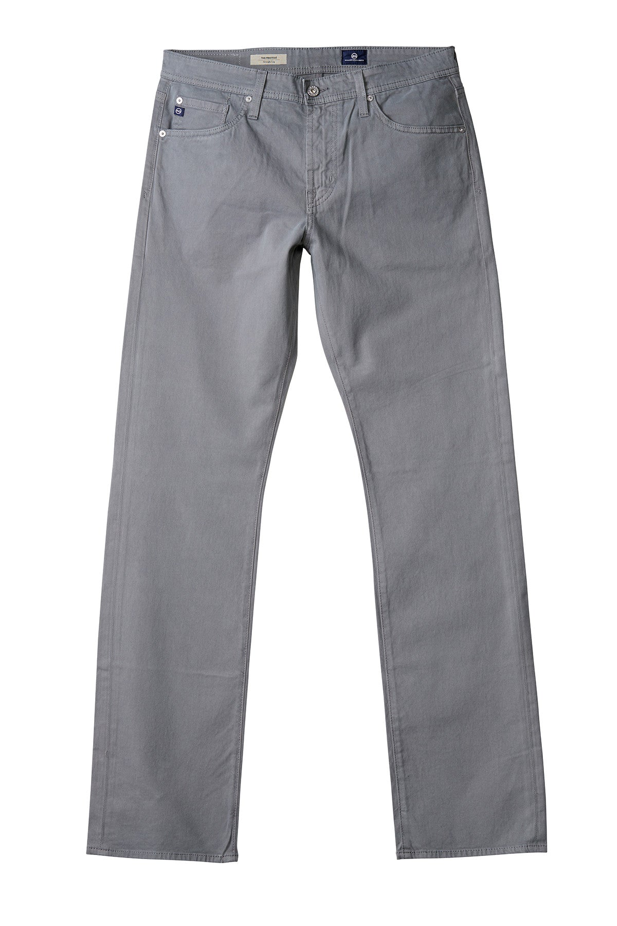 AG 'Protégé' Straight Leg Fit Pants in Sueded Sateen Stone Grey