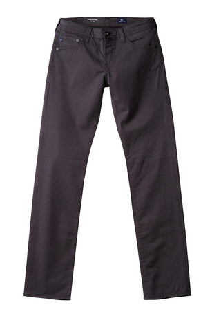 AG 'Graduate' Slim Straight Fit Pants in Sueded Sateen Black
